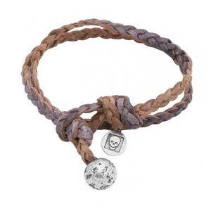 John Varvatos Braided Bracelet with Silver Ball